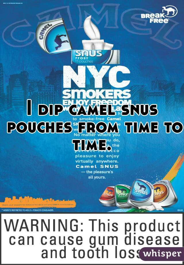 I dip camel snus pouches from time to time.