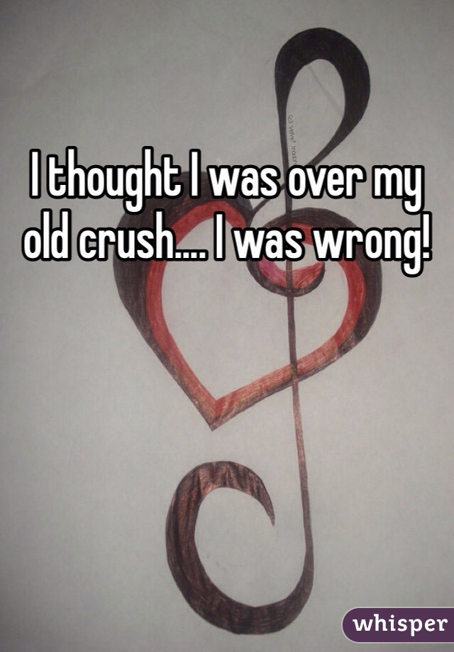 I thought I was over my old crush.... I was wrong!