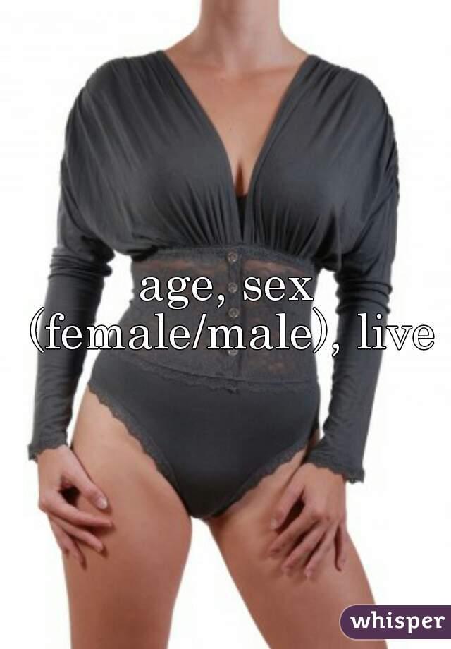 age, sex (female/male), live