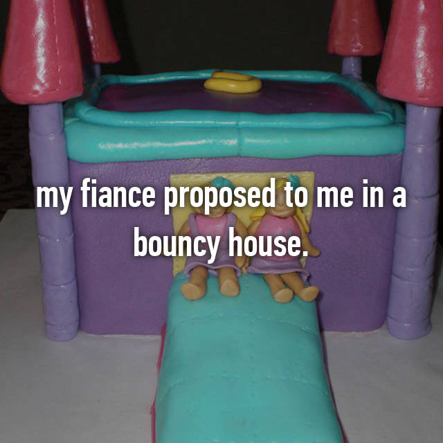 my fiance proposed to me in a bouncy house.