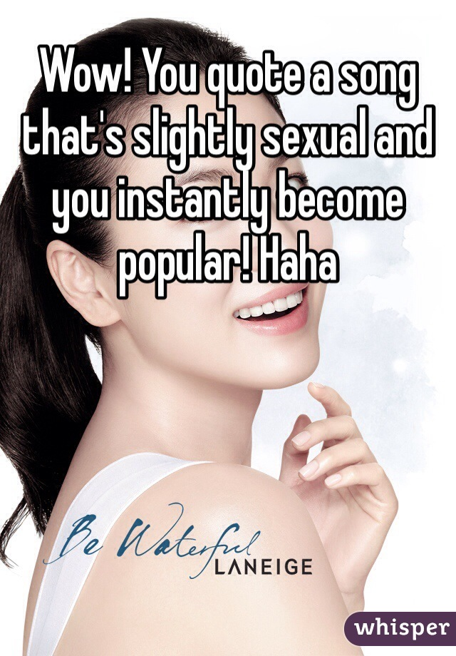 Sexual popular songs