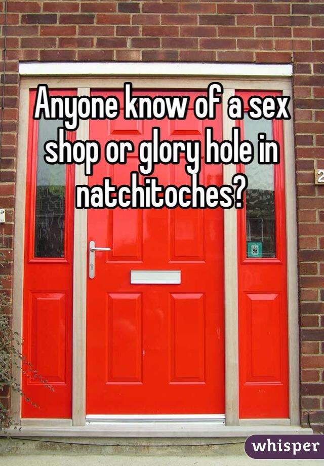 red in Glory door the holes