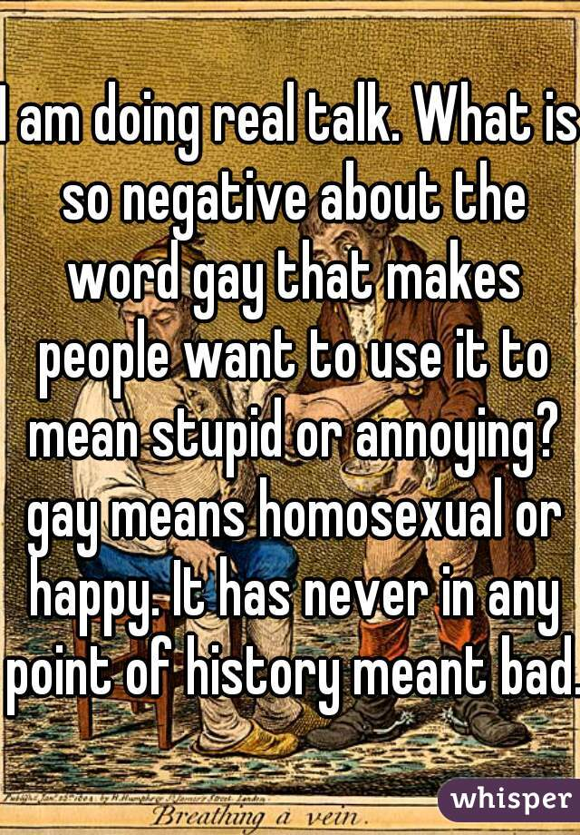 History of the word gay for homosexual