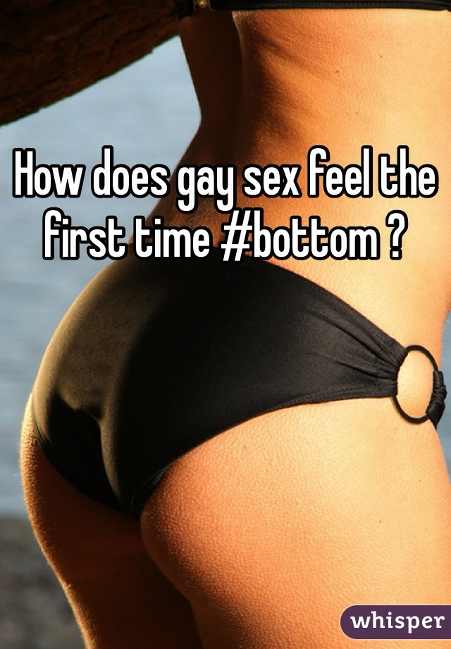 Gay first time bottom