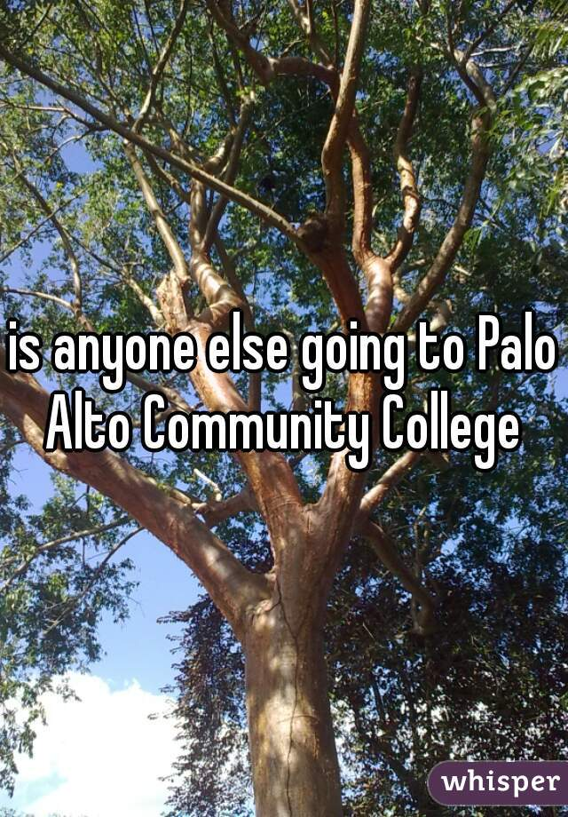 is anyone else going to Palo Alto Community College