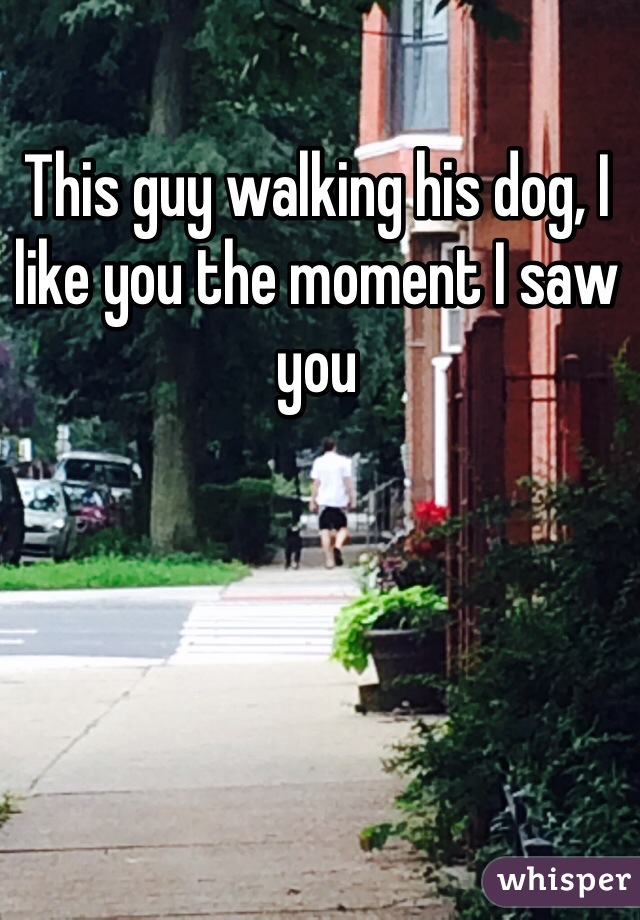 This guy walking his dog, I like you the moment I saw you