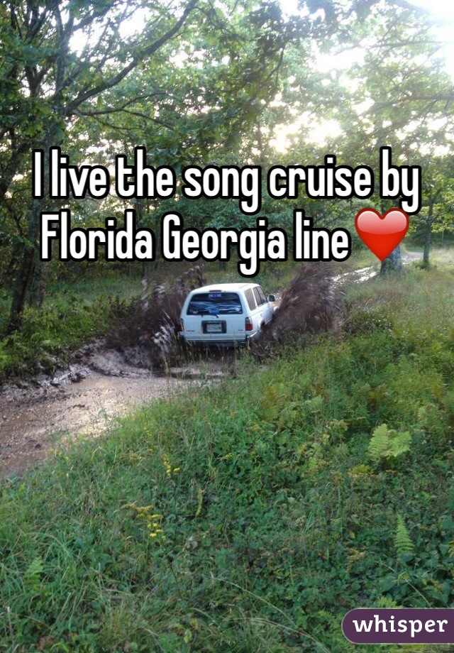 I live the song cruise by Florida Georgia line❤️