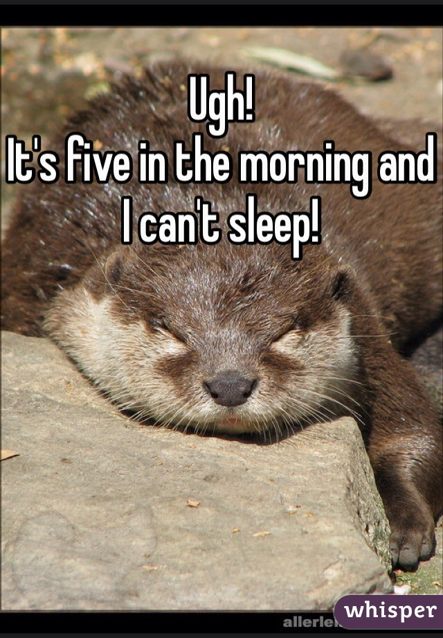 Ugh! It's five in the morning and I can't sleep!