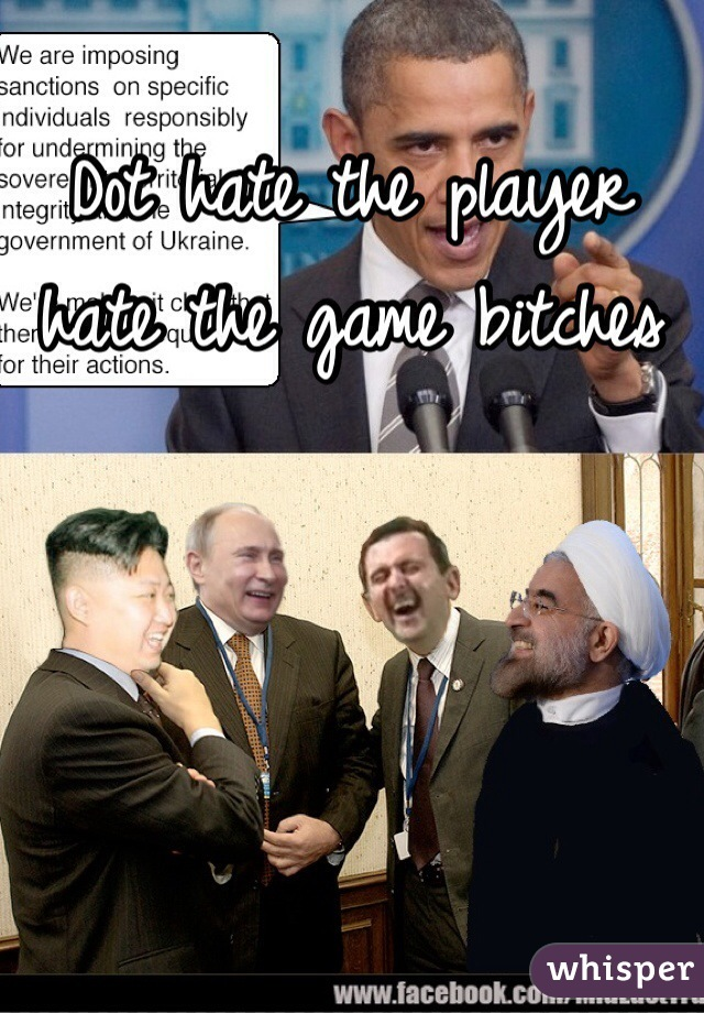 Dot hate the player hate the game bitches