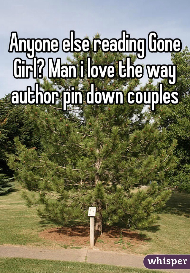 Anyone else reading Gone Girl? Man i love the way author pin down couples