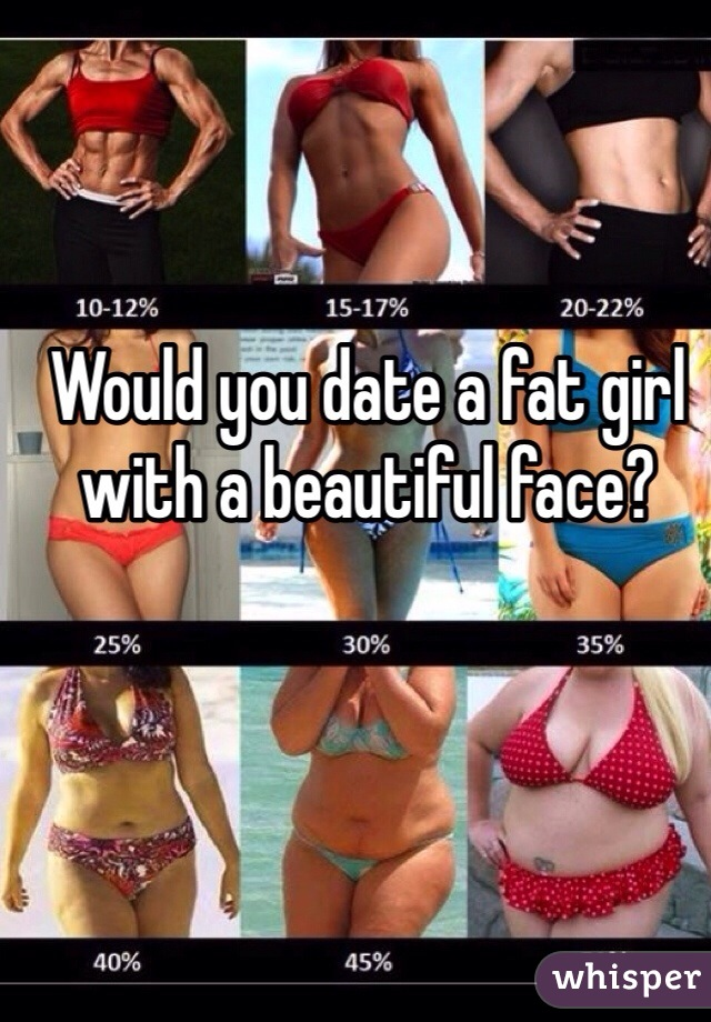 Would you date a fat girl with a beautiful face?