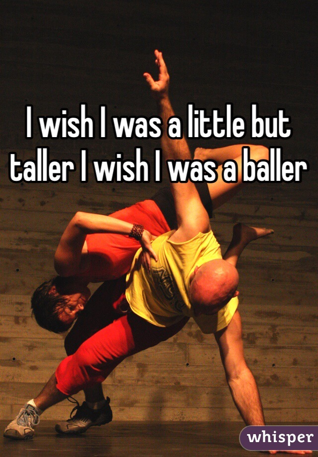 I wish I was a little but taller I wish I was a baller