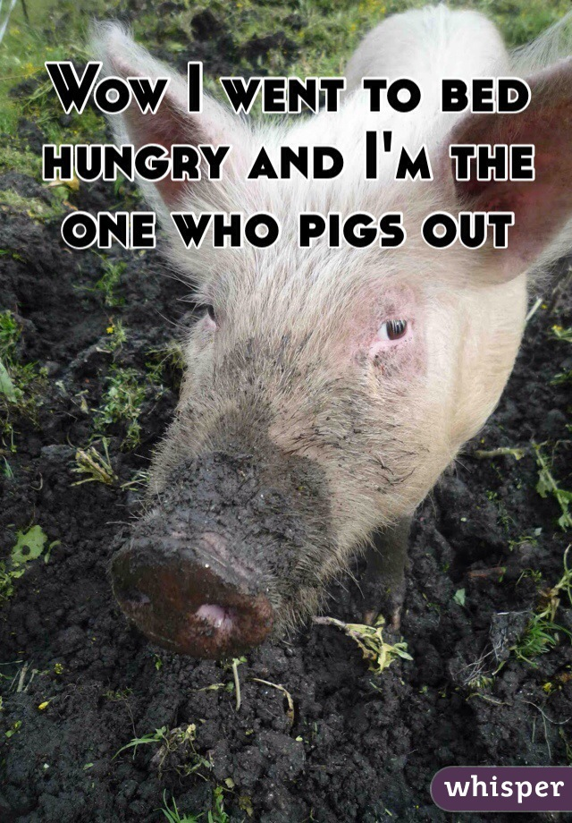 Wow I went to bed hungry and I'm the one who pigs out