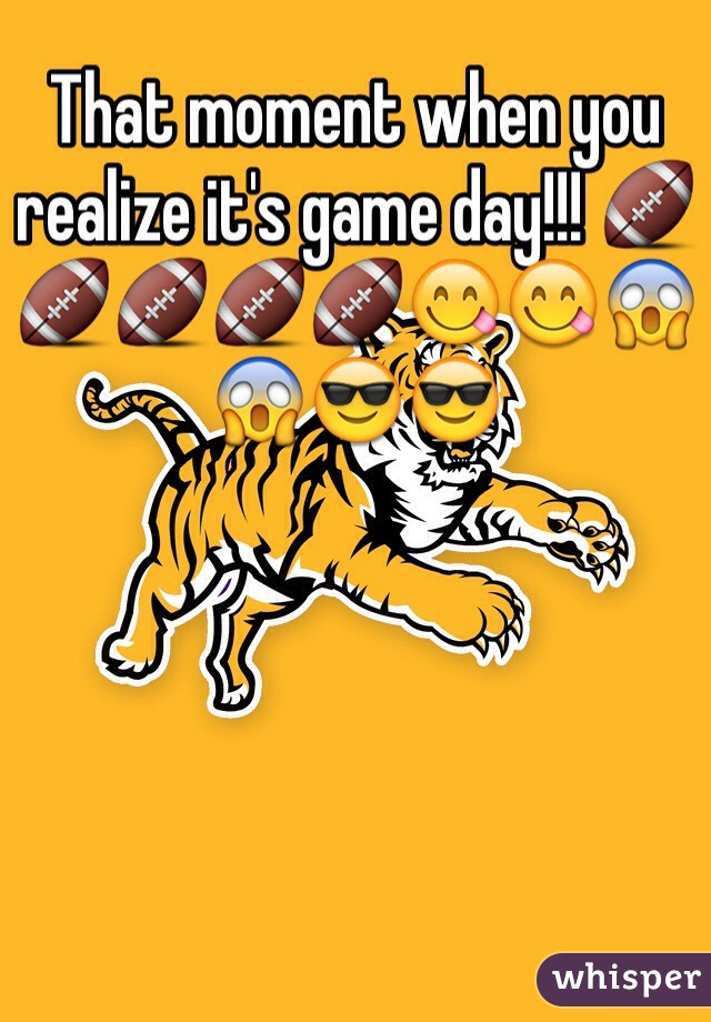 That moment when you realize it's game day!!! 🏈🏈🏈🏈🏈😋😋😱😱😎😎