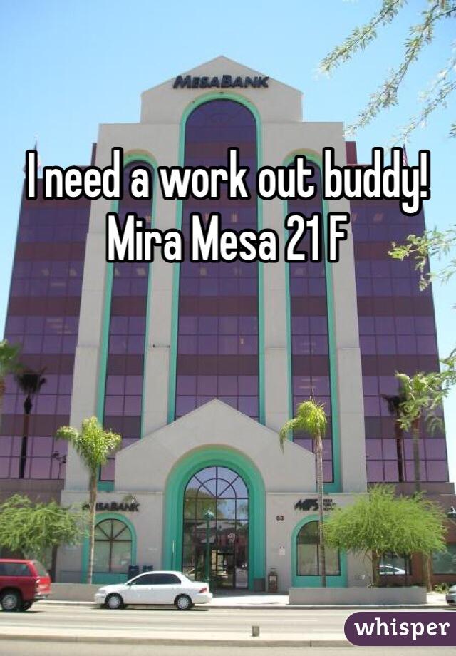 I need a work out buddy! Mira Mesa 21 F