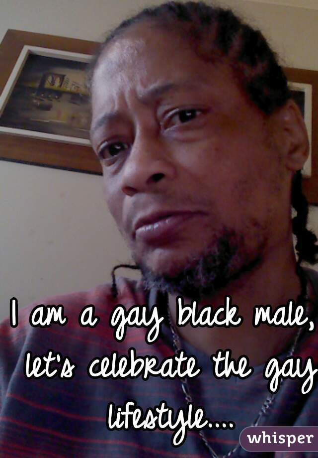 I am a gay black male, let's celebrate the gay lifestyle....