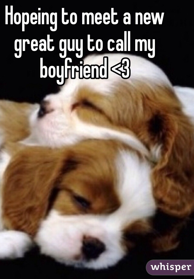 Hopeing to meet a new great guy to call my boyfriend <3