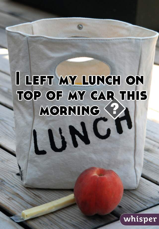 I left my lunch on top of my car this morning 👎