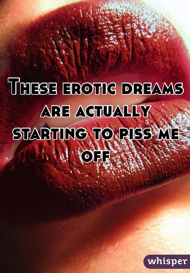 These erotic dreams are actually starting to piss me off