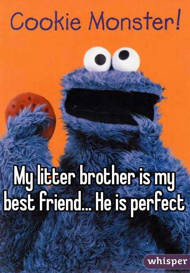 My litter brother is my best friend... He is perfect