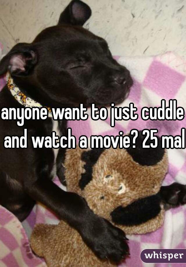 anyone want to just cuddle and watch a movie? 25 male