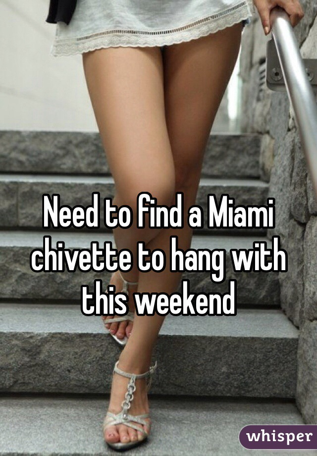 Need to find a Miami chivette to hang with this weekend