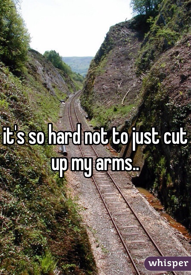 it's so hard not to just cut up my arms..