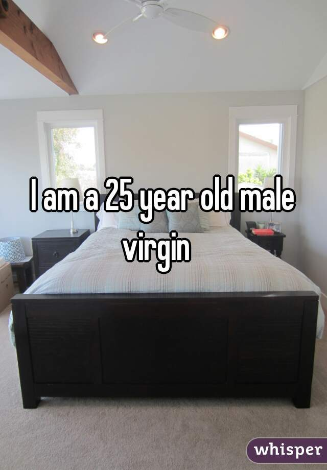 I am a 25 year old male virgin
