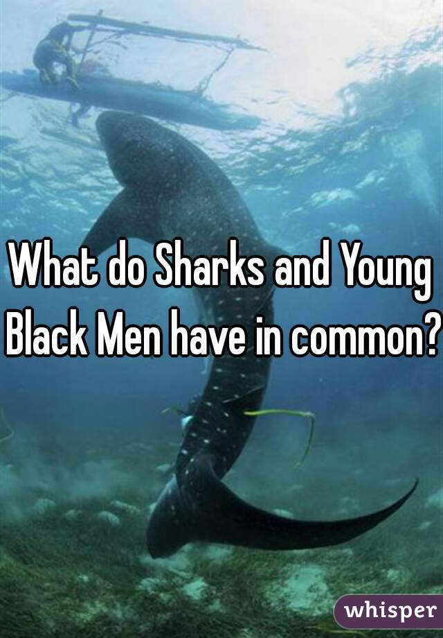 What do Sharks and Young Black Men have in common?