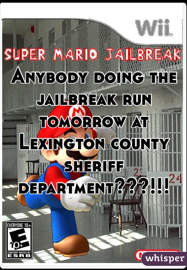 Anybody doing the jailbreak run tomorrow at Lexington county sheriff department???!!!