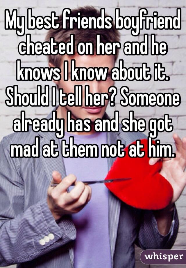 should i tell my boyfriend i cheated