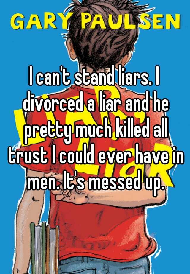 divorcing a liar