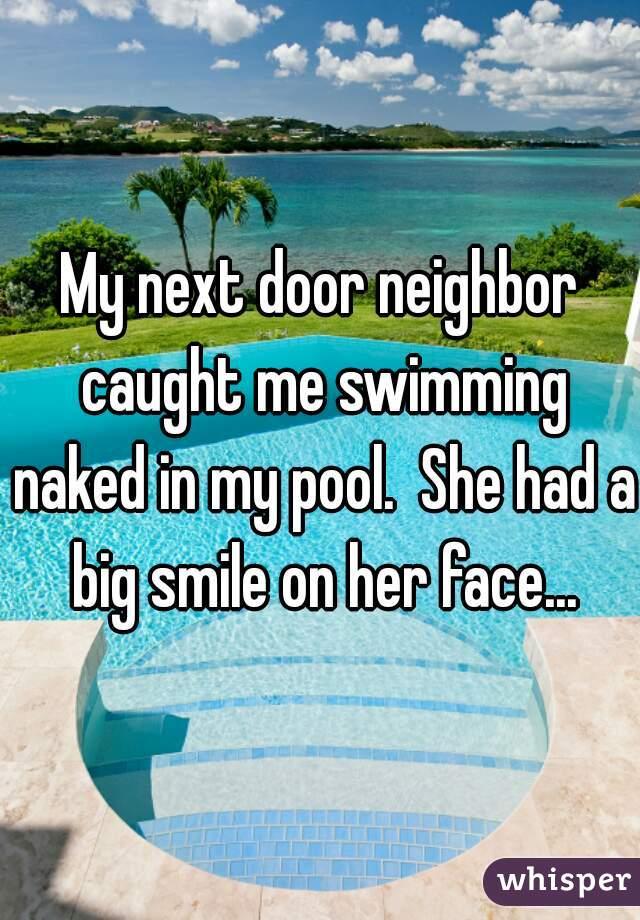 Neighbor caught nude