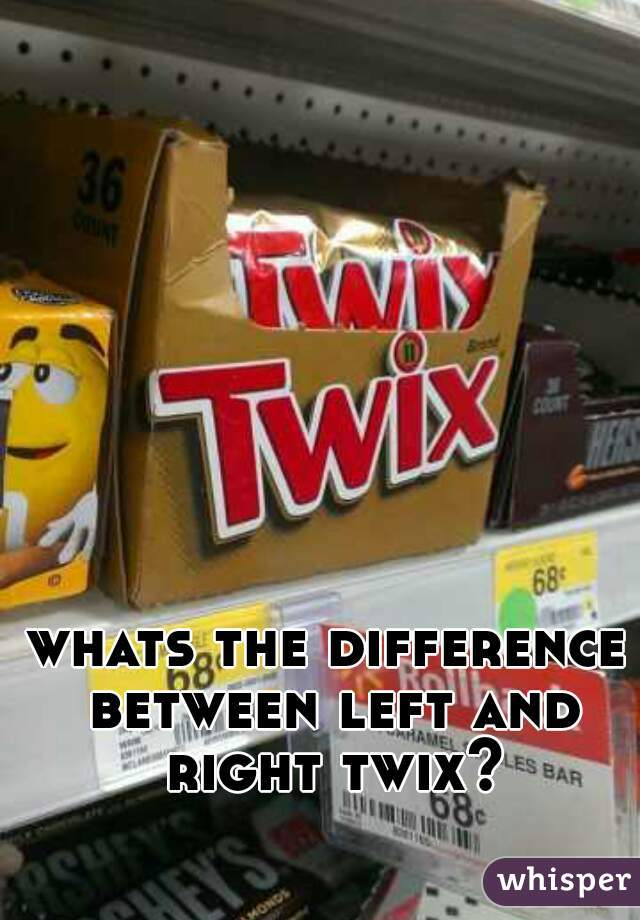 whats the difference between left and right twix