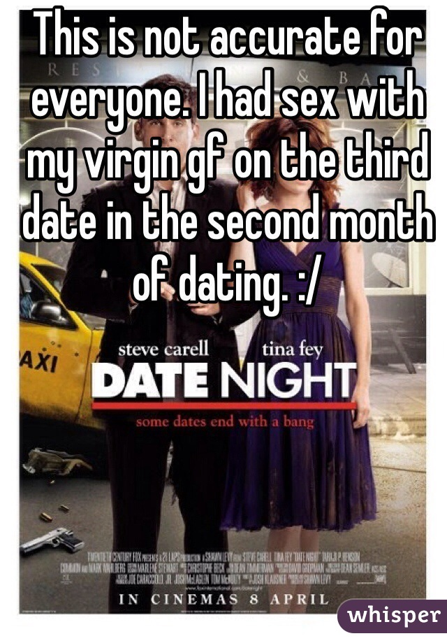 Had sex on the third date