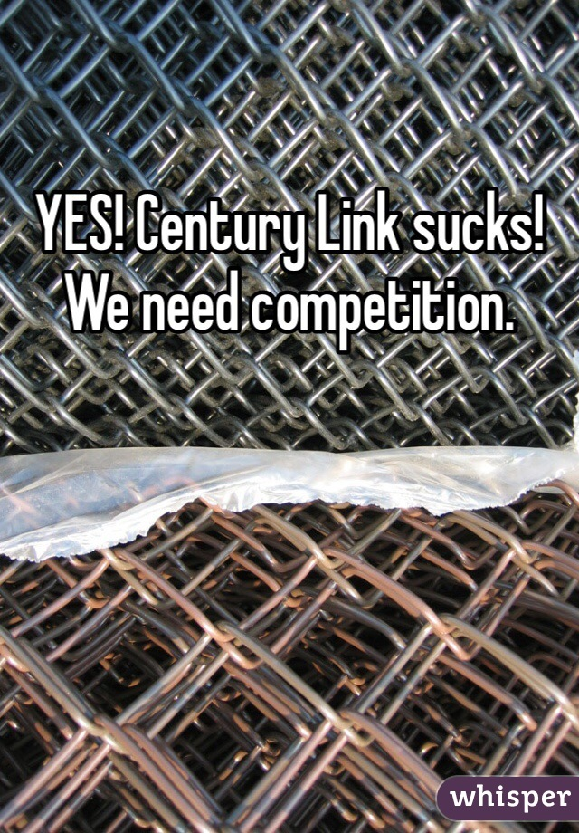 YES! Century Link sucks! We need competition.