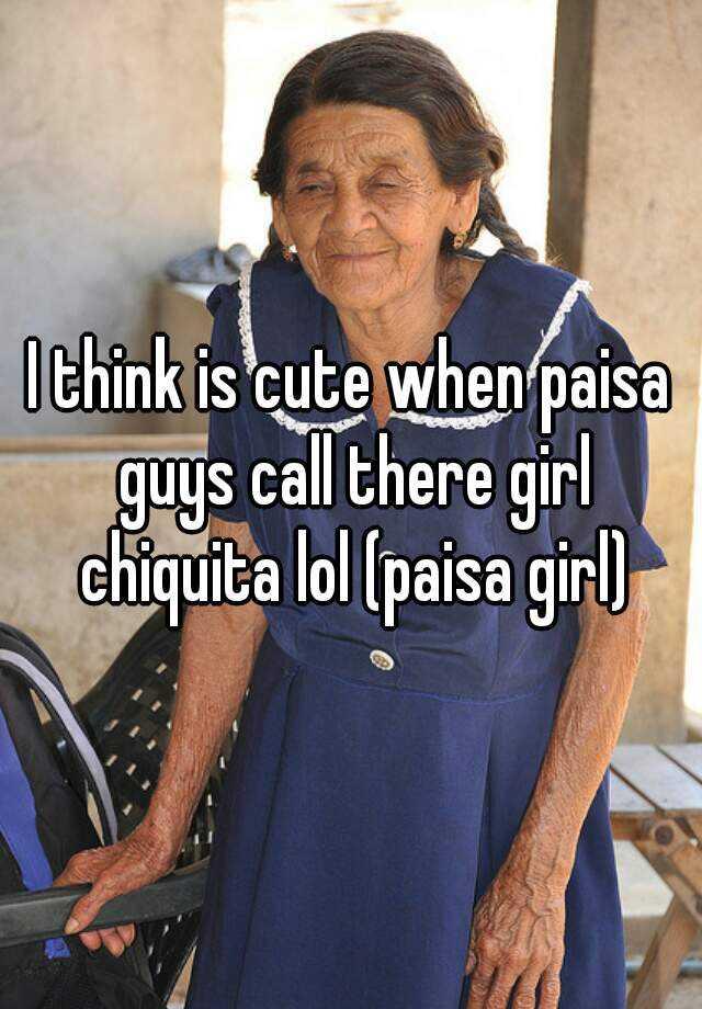 Paisa girl