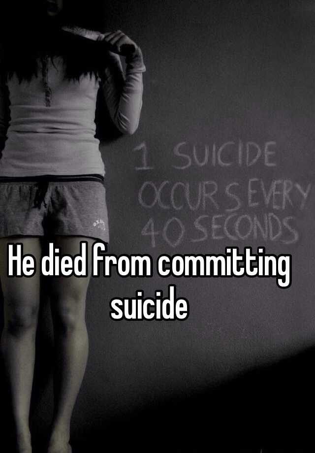 suicide and the reasons for committing suicide If a teen commits suicide, loved ones want to know the causes of teen suicide teen suicide is complex, but here is what we know.