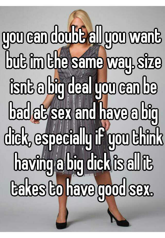 Ways to have a big dick