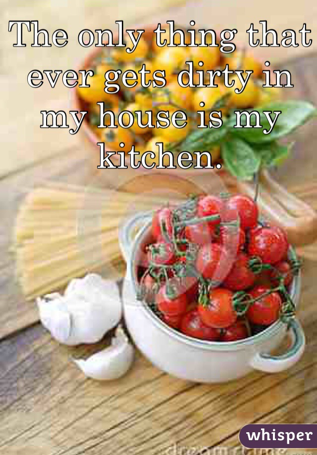 The only thing that ever gets dirty in my house is my kitchen.