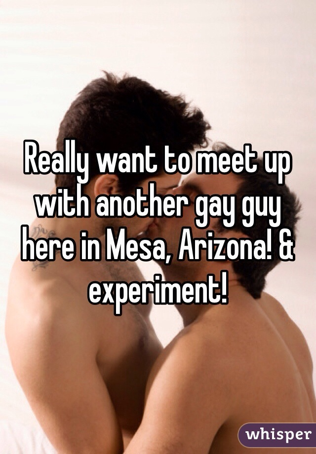 Really want to meet up with another gay guy here in Mesa, Arizona! & experiment!