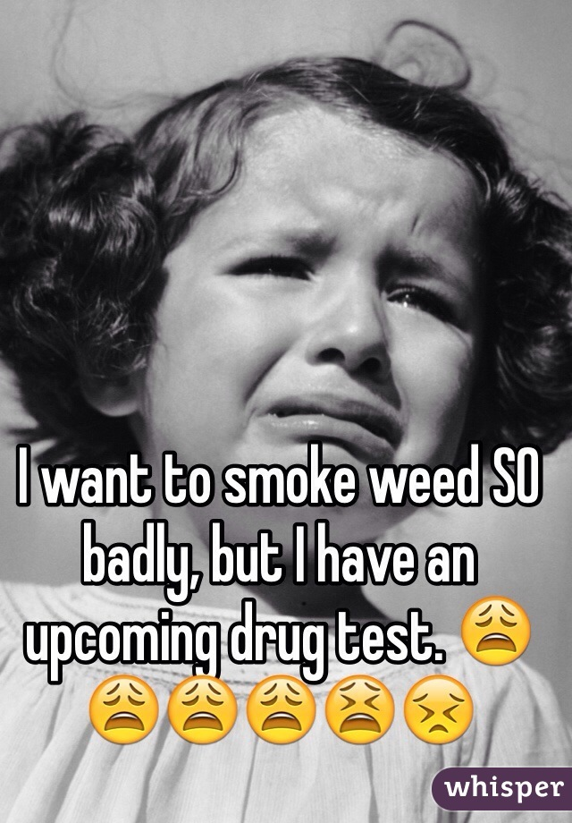 I want to smoke weed SO badly, but I have an upcoming drug test. 😩😩😩😩😫😣