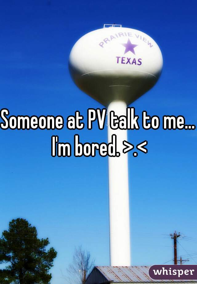 Someone at PV talk to me... I'm bored. >.<