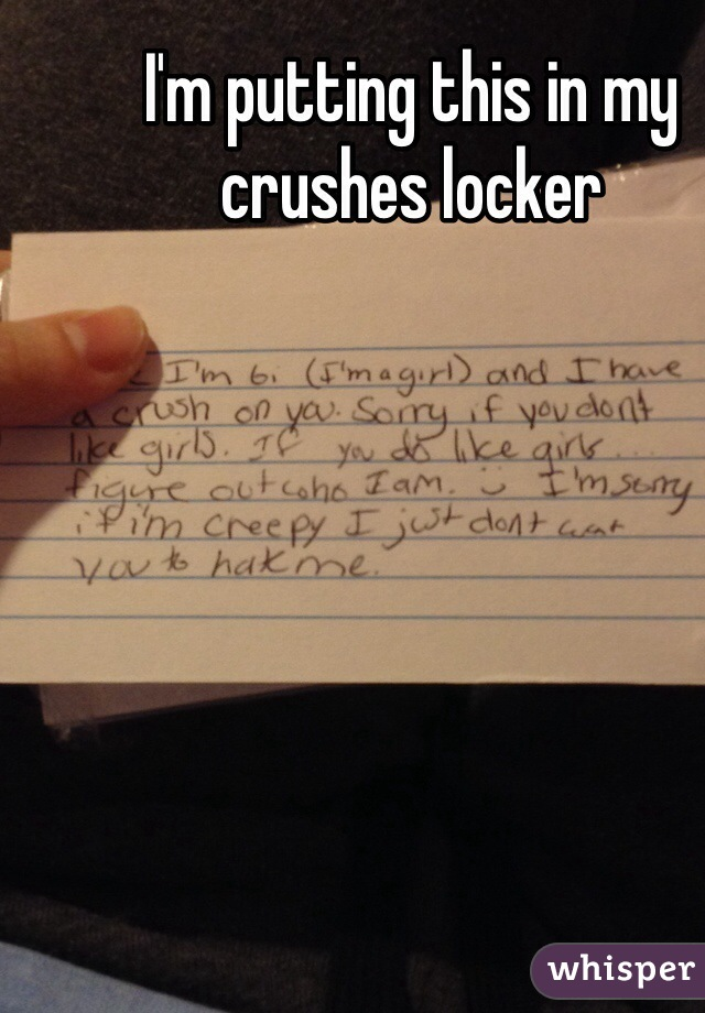 I'm putting this in my crushes locker