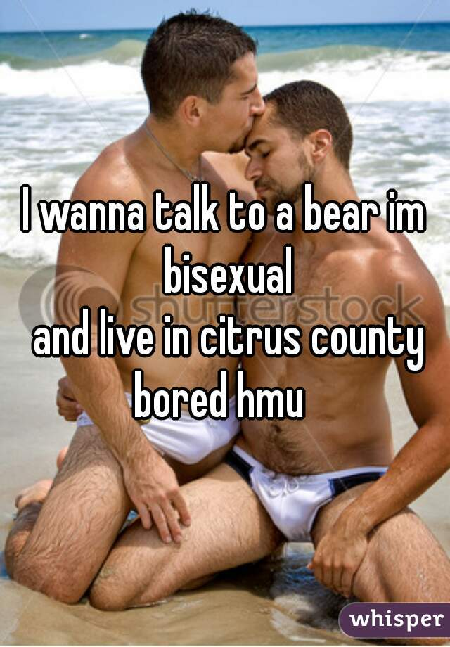 I wanna talk to a bear im bisexual  and live in citrus county bored hmu