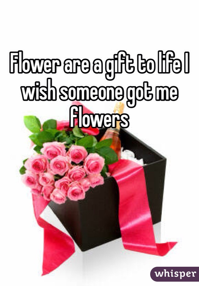 Flower are a gift to life I wish someone got me flowers