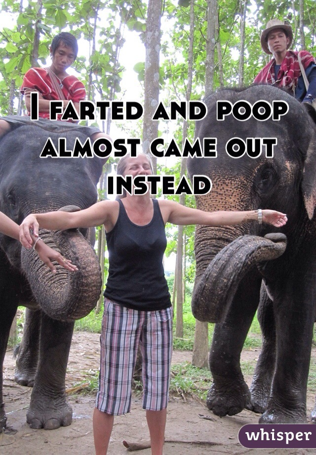 I farted and poop almost came out instead