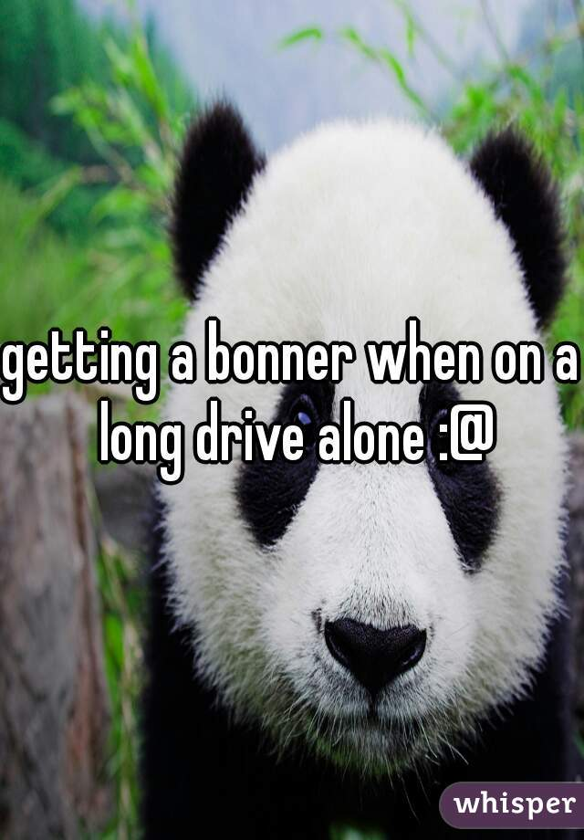 getting a bonner when on a long drive alone :@