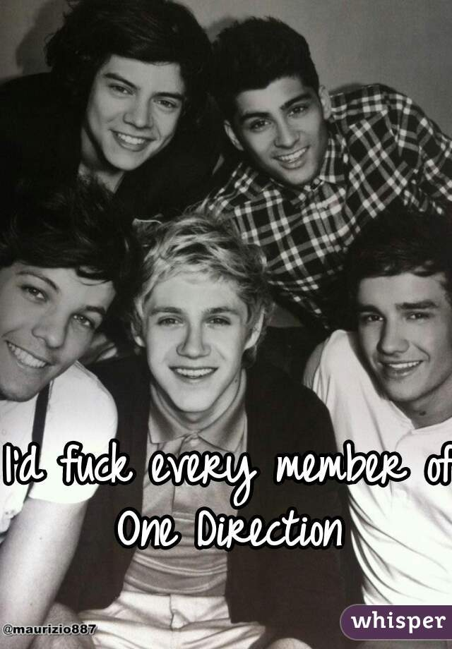 I'd fuck every member of One Direction