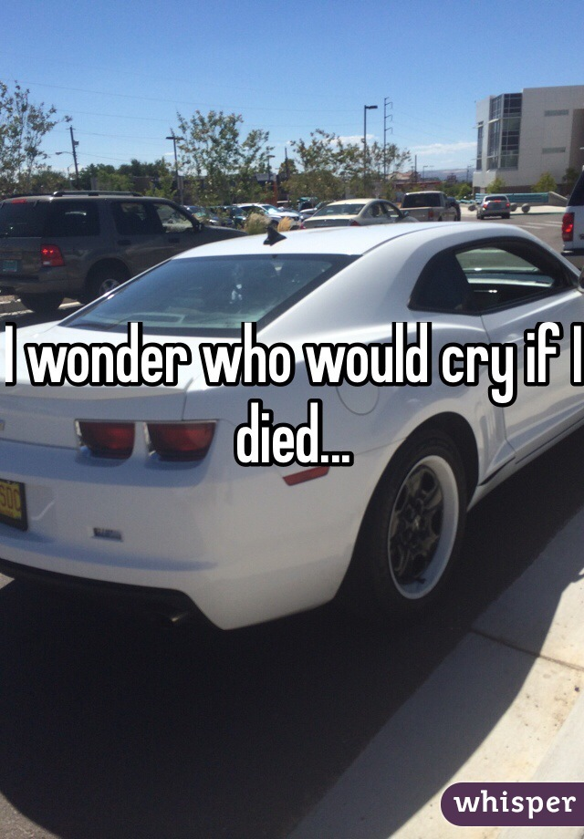 I wonder who would cry if I died...